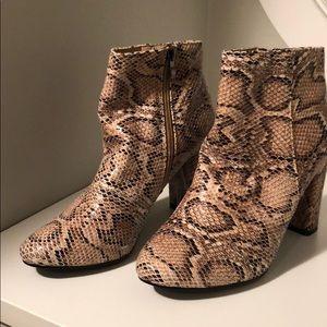 Nasty Gal Shoes - Nasty Gal | Snakeskin Heeled Booties - Like New